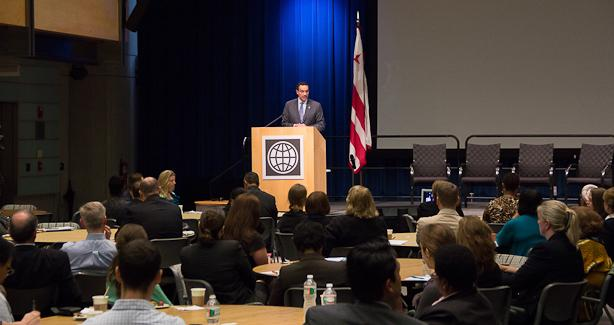 Mayor Gray welcomes participants to the 13th Annual PPP Conference