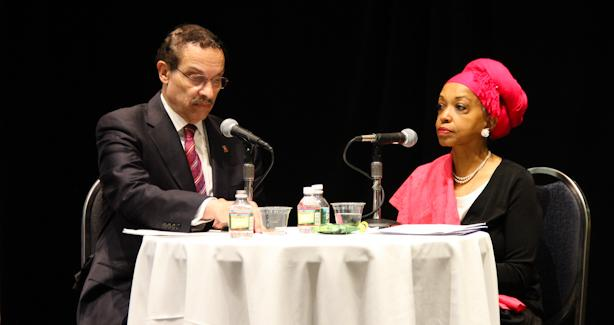 Mayor Vincent Gray participation in a live interview on nonprofit issues with Zarinah Shakir from WPFW
